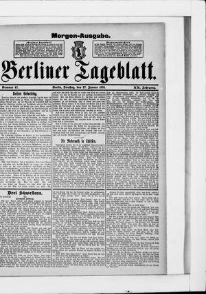 Berliner Tageblatt und Handels-Zeitung vom 27.01.1891