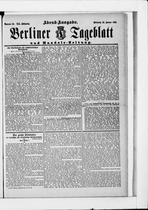Berliner Tageblatt und Handels-Zeitung vom 28.01.1891