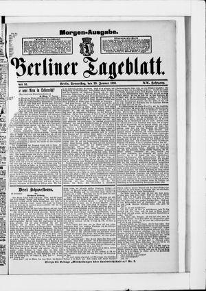 Berliner Tageblatt und Handels-Zeitung vom 29.01.1891