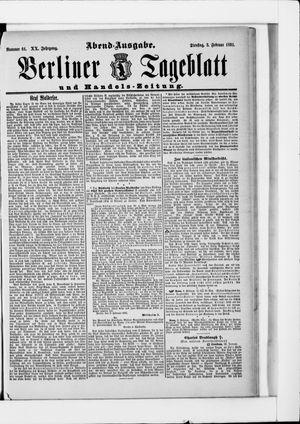 Berliner Tageblatt und Handels-Zeitung vom 03.02.1891