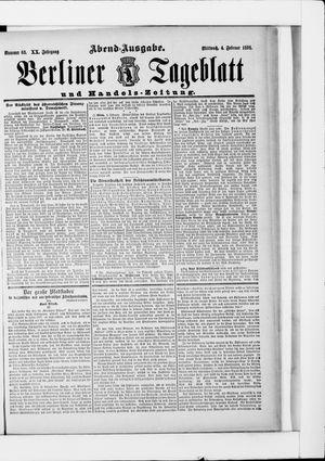 Berliner Tageblatt und Handels-Zeitung vom 04.02.1891