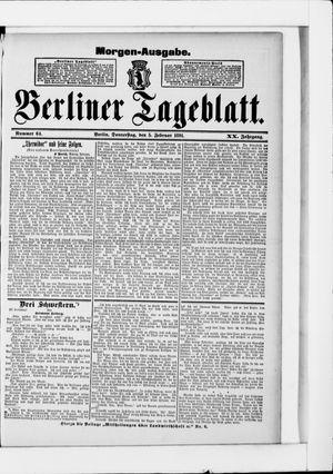 Berliner Tageblatt und Handels-Zeitung vom 05.02.1891
