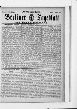 Berliner Tageblatt und Handels-Zeitung vom 06.02.1891