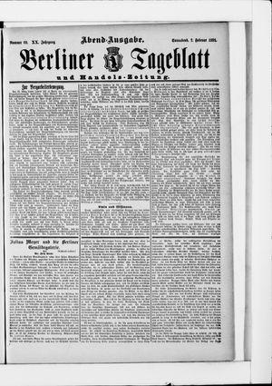 Berliner Tageblatt und Handels-Zeitung vom 07.02.1891