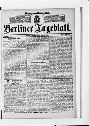 Berliner Tageblatt und Handels-Zeitung vom 08.02.1891