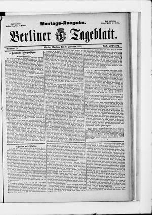 Berliner Tageblatt und Handels-Zeitung vom 09.02.1891