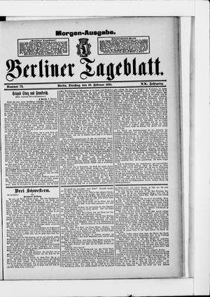 Berliner Tageblatt und Handels-Zeitung vom 10.02.1891