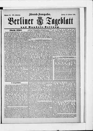 Berliner Tageblatt und Handels-Zeitung vom 13.02.1891