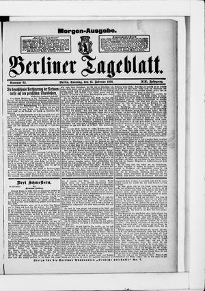 Berliner Tageblatt und Handels-Zeitung vom 15.02.1891