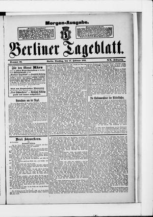 Berliner Tageblatt und Handels-Zeitung vom 17.02.1891