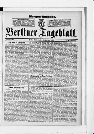 Berliner Tageblatt und Handels-Zeitung vom 18.02.1891