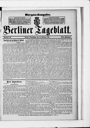 Berliner Tageblatt und Handels-Zeitung vom 19.02.1891