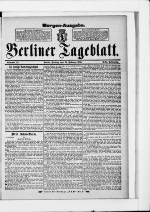 Berliner Tageblatt und Handels-Zeitung on Feb 20, 1891