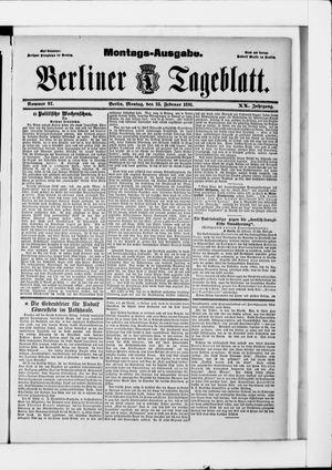 Berliner Tageblatt und Handels-Zeitung vom 23.02.1891