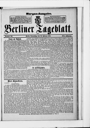 Berliner Tageblatt und Handels-Zeitung vom 26.02.1891