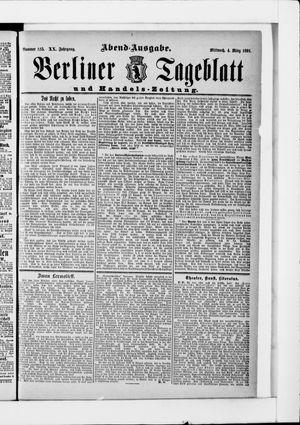 Berliner Tageblatt und Handels-Zeitung vom 04.03.1891