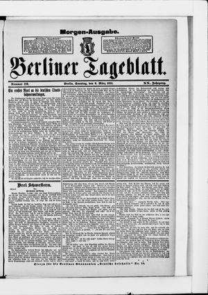 Berliner Tageblatt und Handels-Zeitung vom 08.03.1891