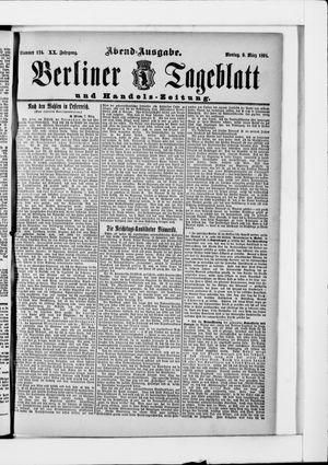 Berliner Tageblatt und Handels-Zeitung vom 09.03.1891