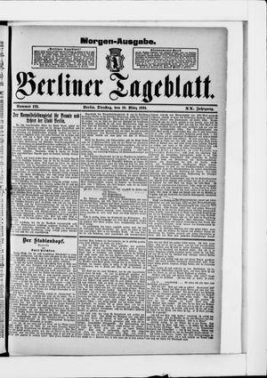 Berliner Tageblatt und Handels-Zeitung vom 10.03.1891