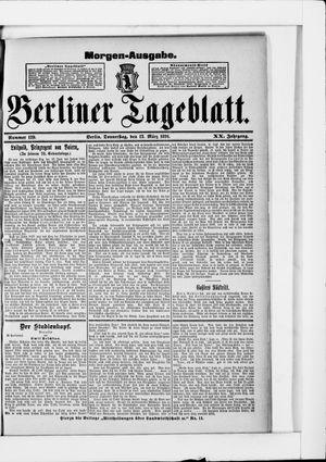 Berliner Tageblatt und Handels-Zeitung vom 12.03.1891