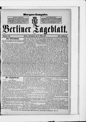 Berliner Tageblatt und Handels-Zeitung vom 14.03.1891