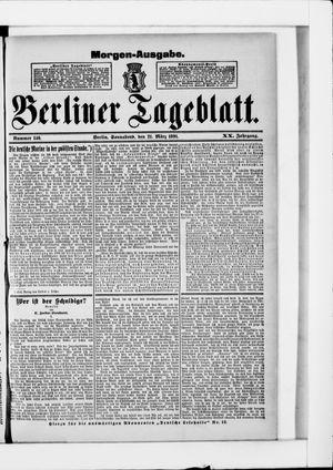 Berliner Tageblatt und Handels-Zeitung vom 21.03.1891
