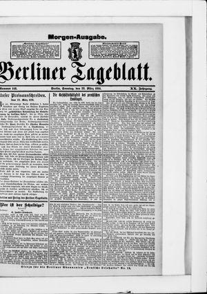 Berliner Tageblatt und Handels-Zeitung vom 22.03.1891