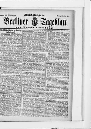 Berliner Tageblatt und Handels-Zeitung vom 23.03.1891