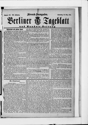 Berliner Tageblatt und Handels-Zeitung vom 26.03.1891