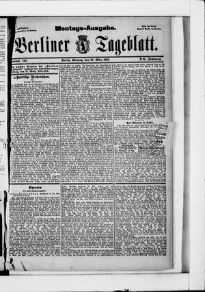 Berliner Tageblatt und Handels-Zeitung vom 30.03.1891
