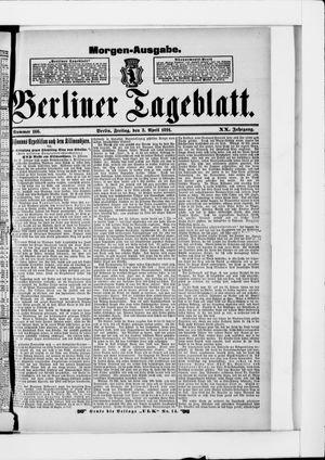 Berliner Tageblatt und Handels-Zeitung vom 03.04.1891