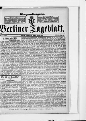 Berliner Tageblatt und Handels-Zeitung on Apr 4, 1891