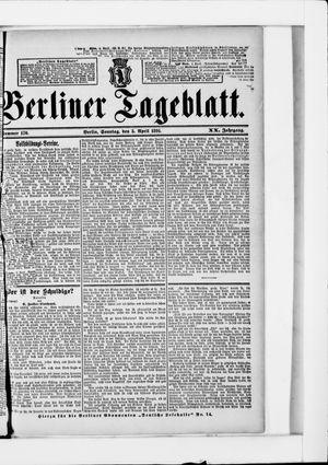 Berliner Tageblatt und Handels-Zeitung vom 05.04.1891