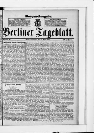 Berliner Tageblatt und Handels-Zeitung vom 11.04.1891