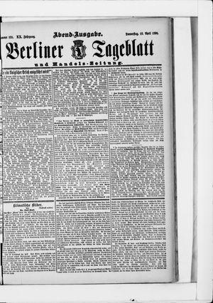 Berliner Tageblatt und Handels-Zeitung on Apr 16, 1891