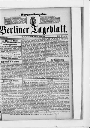 Berliner Tageblatt und Handels-Zeitung vom 18.04.1891