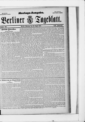 Berliner Tageblatt und Handels-Zeitung vom 20.04.1891