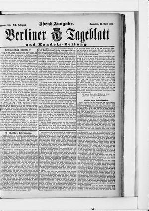 Berliner Tageblatt und Handels-Zeitung vom 25.04.1891