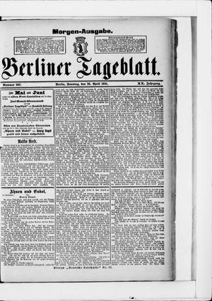 Berliner Tageblatt und Handels-Zeitung vom 26.04.1891