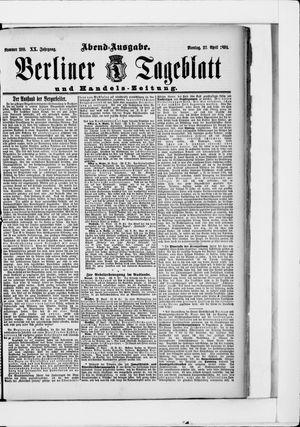 Berliner Tageblatt und Handels-Zeitung vom 27.04.1891