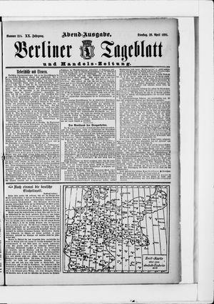 Berliner Tageblatt und Handels-Zeitung vom 28.04.1891