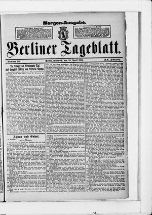 Berliner Tageblatt und Handels-Zeitung vom 29.04.1891