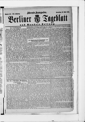 Berliner Tageblatt und Handels-Zeitung vom 30.04.1891