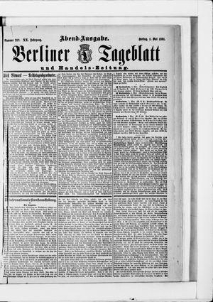 Berliner Tageblatt und Handels-Zeitung vom 01.05.1891