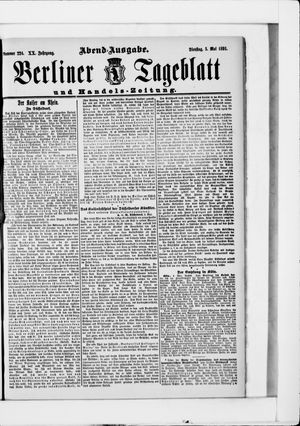 Berliner Tageblatt und Handels-Zeitung on May 5, 1891