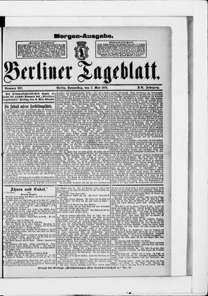 Berliner Tageblatt und Handels-Zeitung vom 07.05.1891