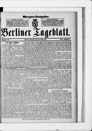 Berliner Tageblatt und Handels-Zeitung vom 10.05.1891