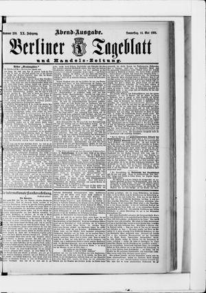 Berliner Tageblatt und Handels-Zeitung vom 14.05.1891