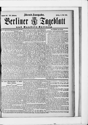 Berliner Tageblatt und Handels-Zeitung vom 15.05.1891