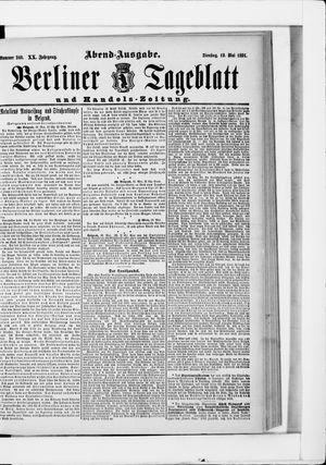 Berliner Tageblatt und Handels-Zeitung vom 18.05.1891